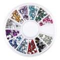 Heart Shape Acrylic Nail Art Decoration UV Gel Polish Glitter 3D Desgin Rhinestone Charm Jewelry Accessories Wheel Manicure Tool