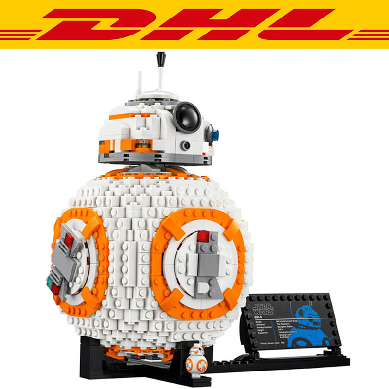 2018 New 1238pcs Star Wars Figures BB8 Robot Model Building Kit Blocks Bricks Figure For Children Educational Kid Toy Gift 75187 367pcs insect building blocks abs plastic compatible model kit bricks diy educational toy for children kid animals gift