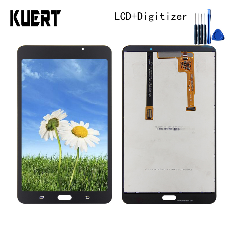 Panel LCD Combo Touch Screen Digitizer Glass LCD Display Assembly For Samsung Galaxy Tab A 7.0 SM-T280 Accessories Parts Tool for samsung galaxy tab 4 7 0 sm t230 t230 full lcd display panel black touch screen digitizer glass assembly replacement