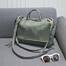 Bolish Brand Fashion Female Shoulder Bag Nubuck Leather women handbag Vintage Messenger Bag Motorcycle Crossbody Bags Women Bag цена