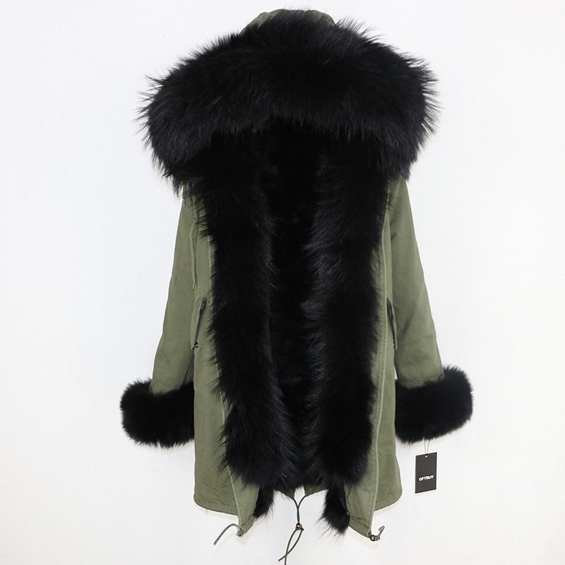 OFTBUY 2019 Winter Jacket Women Long Parka Real Fox Fur Coat Natural Raccoon Fur Collar Hood Thick Warm Streetwear Parkas New 57