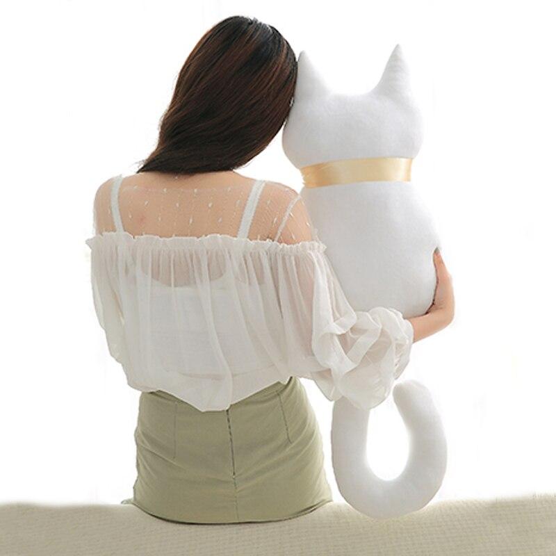 1 pc 45 cm Moda Voltar Sombra Gato Assento almofada do Sofá Almofada  Travesseiro Bonito Brinquedos de Pelúcia Bicho de pelúcia Dos Desenhos  Animados ... a2f85fb4331
