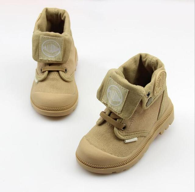 2019 autumn new kids sneakers high cildren's canvas shoes boys and girls child baby boots casual military boots size21-37