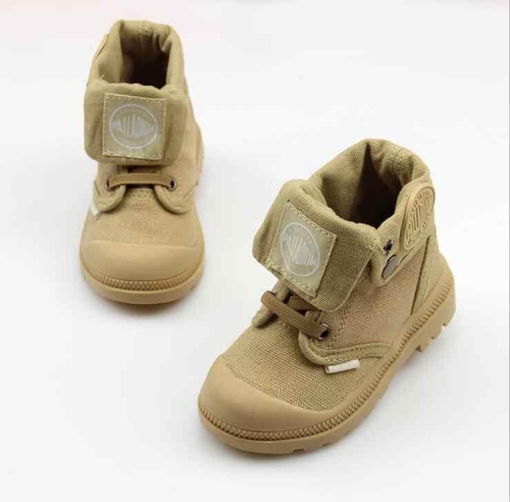 2019 г., новые осенние детские кроссовки, высокие карнавальные ботинки для мальчиков и девочек, детские ботинки повседневные военные ботинки, size21-37