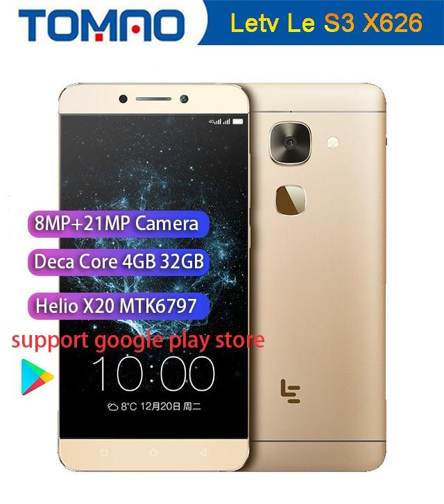 Original Letv LeEco Le S3 X626 4G LTE Mobile Phone Deca Core 5 5 1920X1080 3