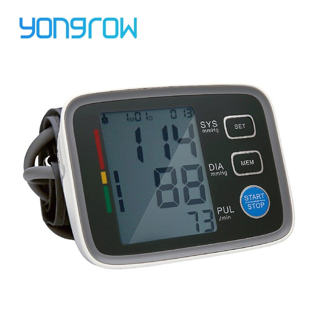Yongrow Arm Blood Pressure Monitor Sphygmomanometer Bloeddruk Tonometer Medidor De Presion Arterial Digital Blood Pressure