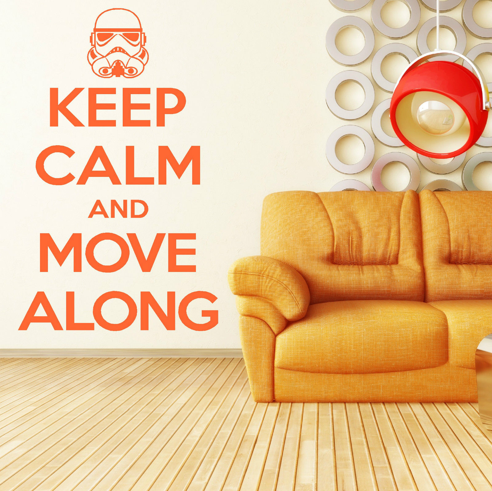 HWHD KEEP CALM AND MOVE ALONG Star Wars Stormtrooper VINYL WALL ART ...