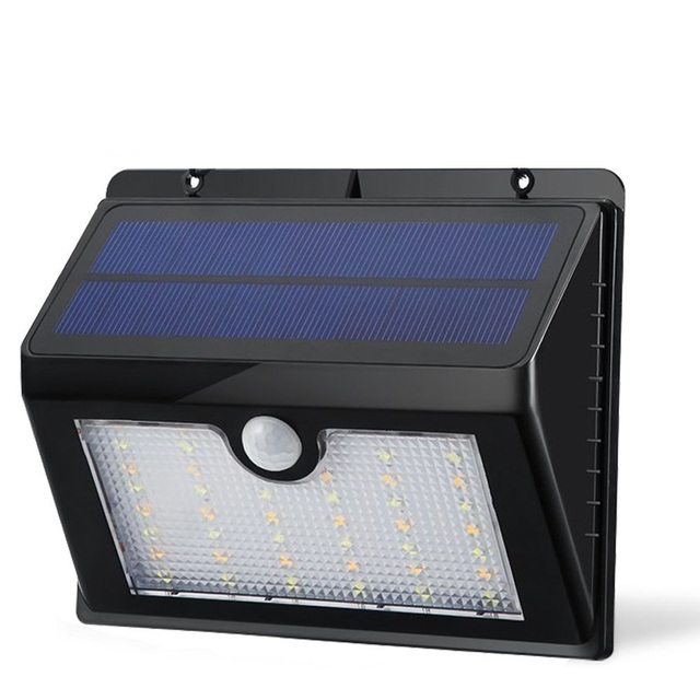 44 Led Outdoor Solar Motion Sensor Light Dual Color Waterproof Wireless Bright With Hanging Hook