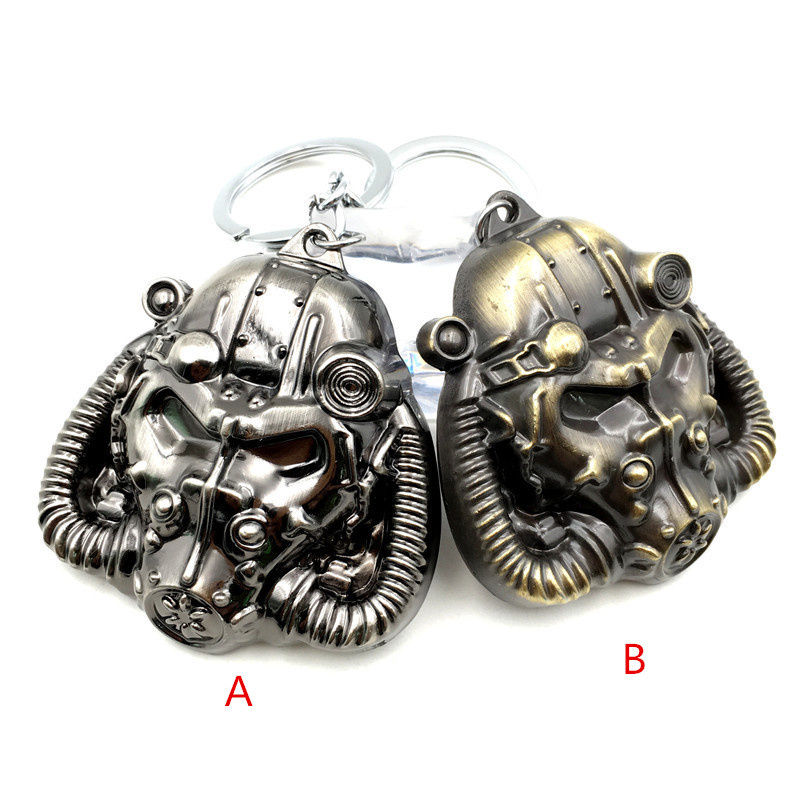 Merry Christmas 2 Types Game Keychain Fallout Mask Radiation