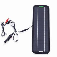 DC Portable Solar Panel 12V 18v 5w Cell Battery Car Charger cigarette lighter charging Monocrystalline solar energy Rechargeable