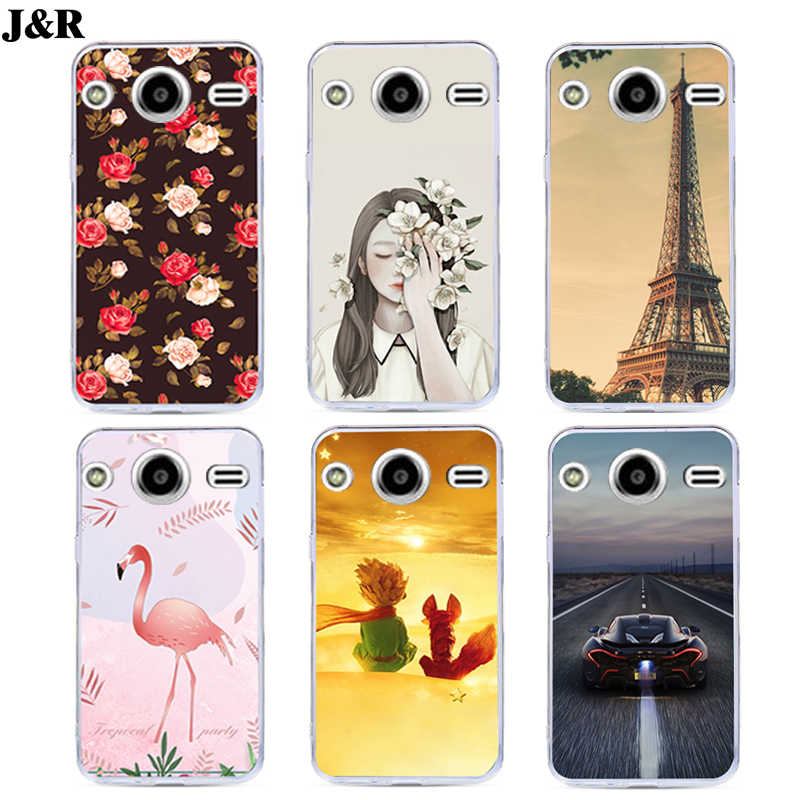 J&R Pattern Phone Cover For Samsung Galaxy Core 2 Duos SM-G355H Dual G355H G355 Soft TPU Case Silicone Cartoon Animals g355h/ds