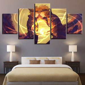 Canvas Paintings Home Decor Living Room Wall Art 5 Pieces Naruto Pictures HD Prints Cartoon Anime Characters Posters Framework(China)