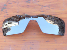 Polycarbonate-Chrome Silver Mirror Replacement Lenses For Probation Sunglasses Frame 100% UVA & UVB Protection