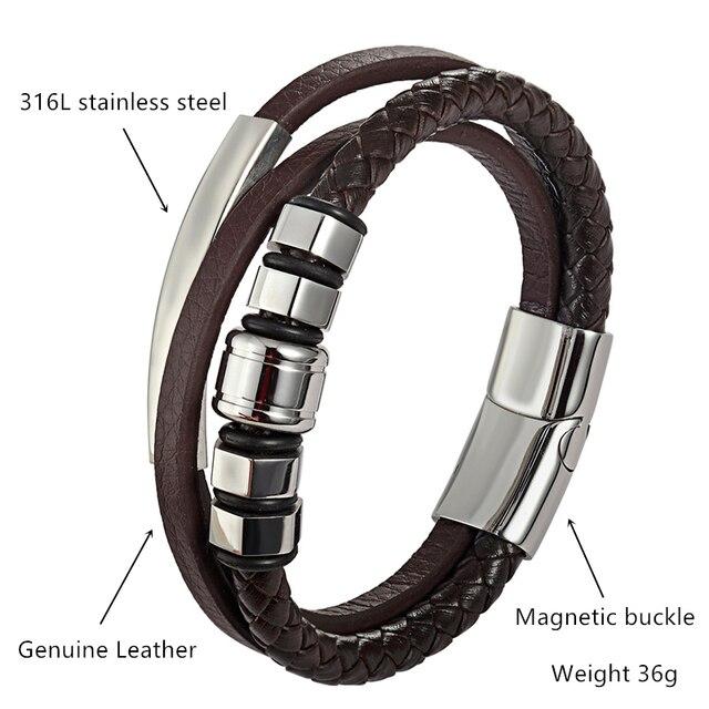 Высококачественный мужской браслет из нержавеющей стали простой