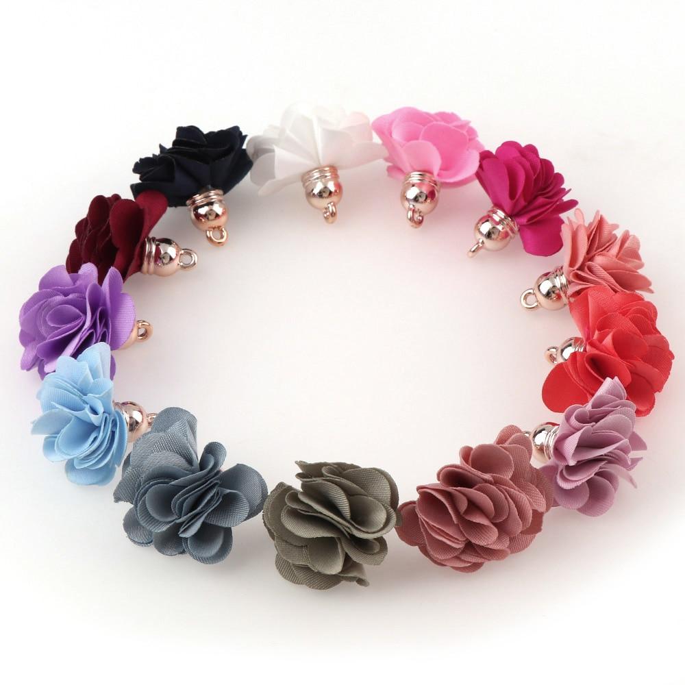 10 Stück Kleine Blütenblatt Blume Quaste Diy Schmuck, Die Entdeckungen Blumen Anhänger Quasten Schmuck Zubehör Zubehör