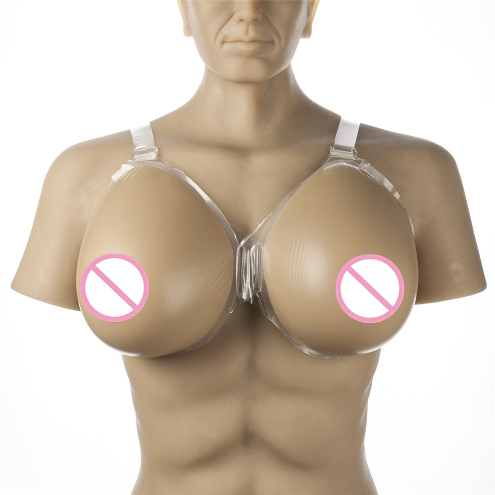 Realistic Breast Forms 2800g/pair Crossdresser Tits Strap-On Silicone Breasts Transsexual Artificial Fake Boobs 2200g pair 38i 40h 42g 44f enormous breast fake realistic artificial silicone breasts forms for transgenders breasts increase