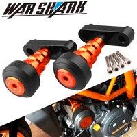 For KTM DUKE 125 200 390 2013 2015 13 14 15 Aluminum Motorcycle Orange Frame Slider Anti Crash Protector&Swingarm Sliders Spools