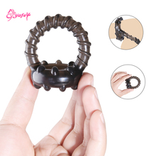 Reusable Condoms Silicone Penis Ring Cockring delay ejaculation Erection Double Lock Ring Long Lasting Adult Sex Toys for Men