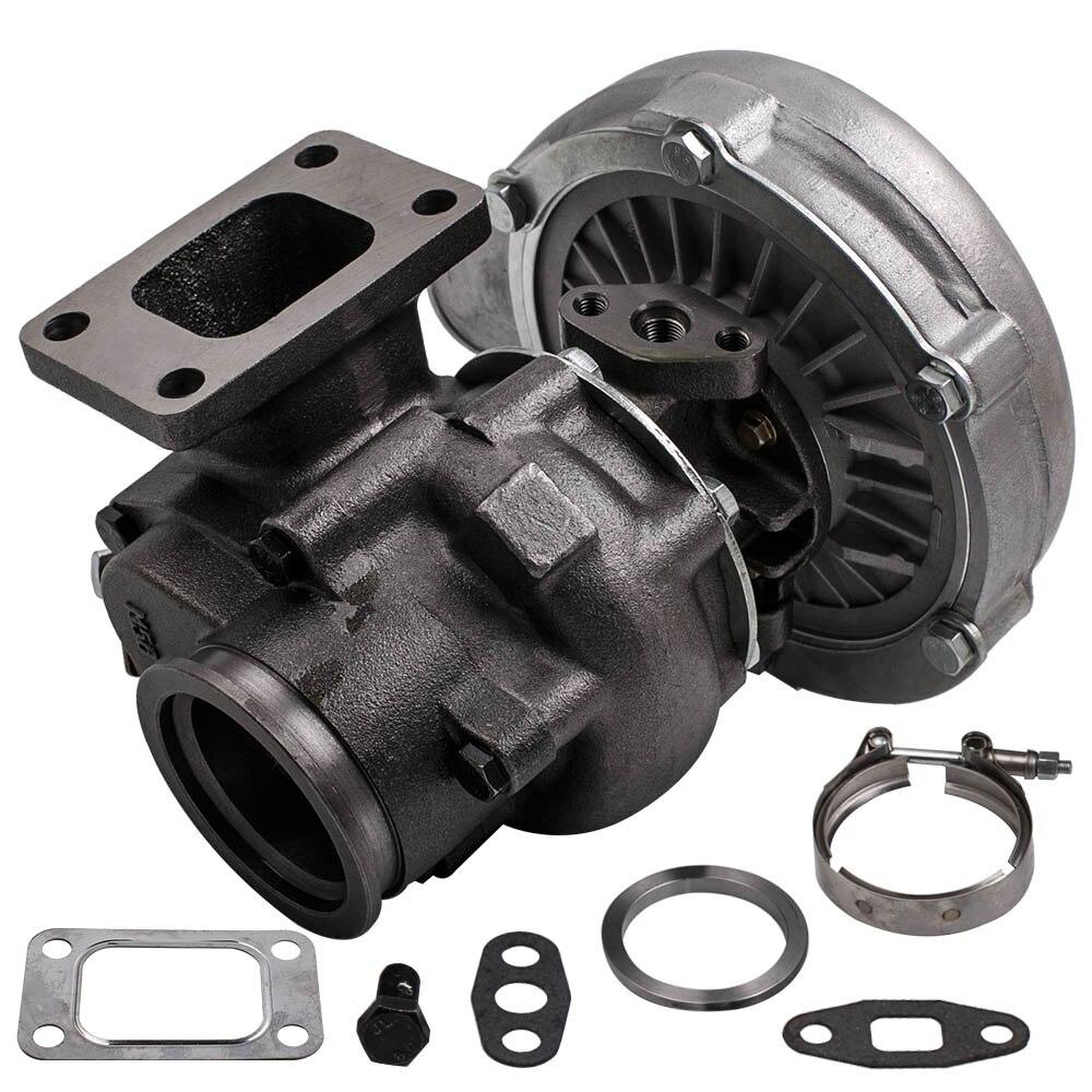 ユニバーサル T3/T4 T04E V-BAND ターボチャージャーターボ。 63 A/R すべての内部ウェストゲート 4 6 気筒エンジン 2.0L-3.5L Turbolader