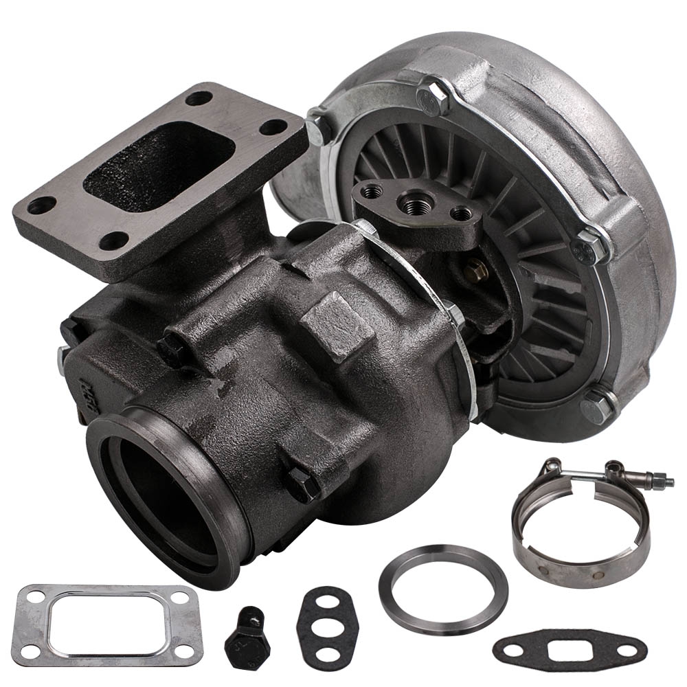Universal T3/T4 T04E V-BAND Turbocharger Turbo .63 A/R Internal Wastegate for all 4 6 Cylinder engine  2.0L-3.5L Turbolader