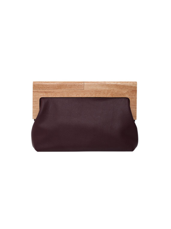 32X12cm Nature Color Wooden Purse Frame Bag Accessories Metal Plastic Bamboo Acrylic Purse Bag Frame Handle Strap China Factory