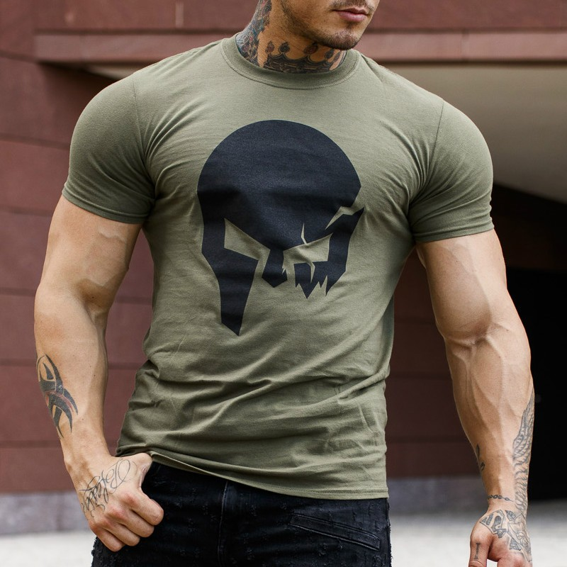 100% Cotton Short Sleeve 3D T Shirt Men T-Shirt Male Tee Tshirt Men Fitness Compression Shirt Punisher MMA