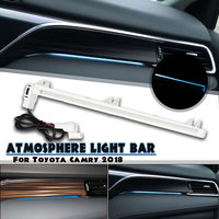 12V автомобильный внутренний салон, Торпедо Led Специальная атмосферная декоративная лампа светло-синий для Toyota Camry 2018 2019