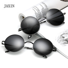 JAXIN Fashion trend Round Sunglasses Men classic retro versatile Women brand design goggles okulary UV400 oculos2019