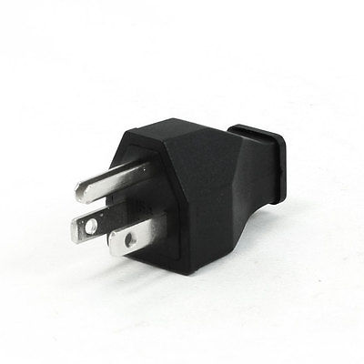 15 Amp 125V US Type 3 Pin 9.5mm Diameter Cord Hole Plug Adapter 400 amp 3 pole cm1 type moulded case type circuit breaker mccb