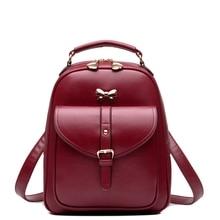 Женщины back pack сумки искусственная кожа япония корея стиль студент ранцы для подростков девочек путешествия mochila небольшие рюкзаки рюкзак
