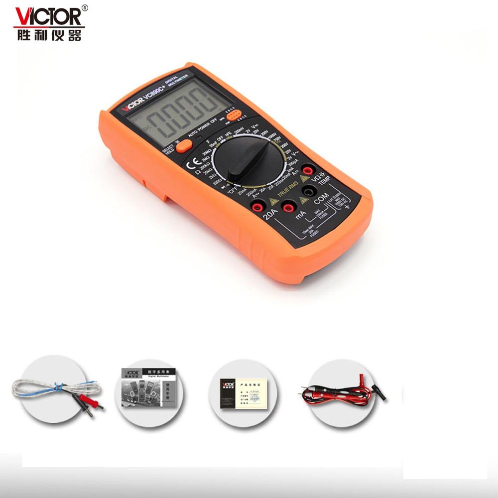 Original VICTOR VC890C+ Digital Multimeter True RMS Multimeter 2000UF Capacitor Temperature Measurement professional victor vc890c digital multimeter true rms multimeter 2000uf capacitor temperature measurement