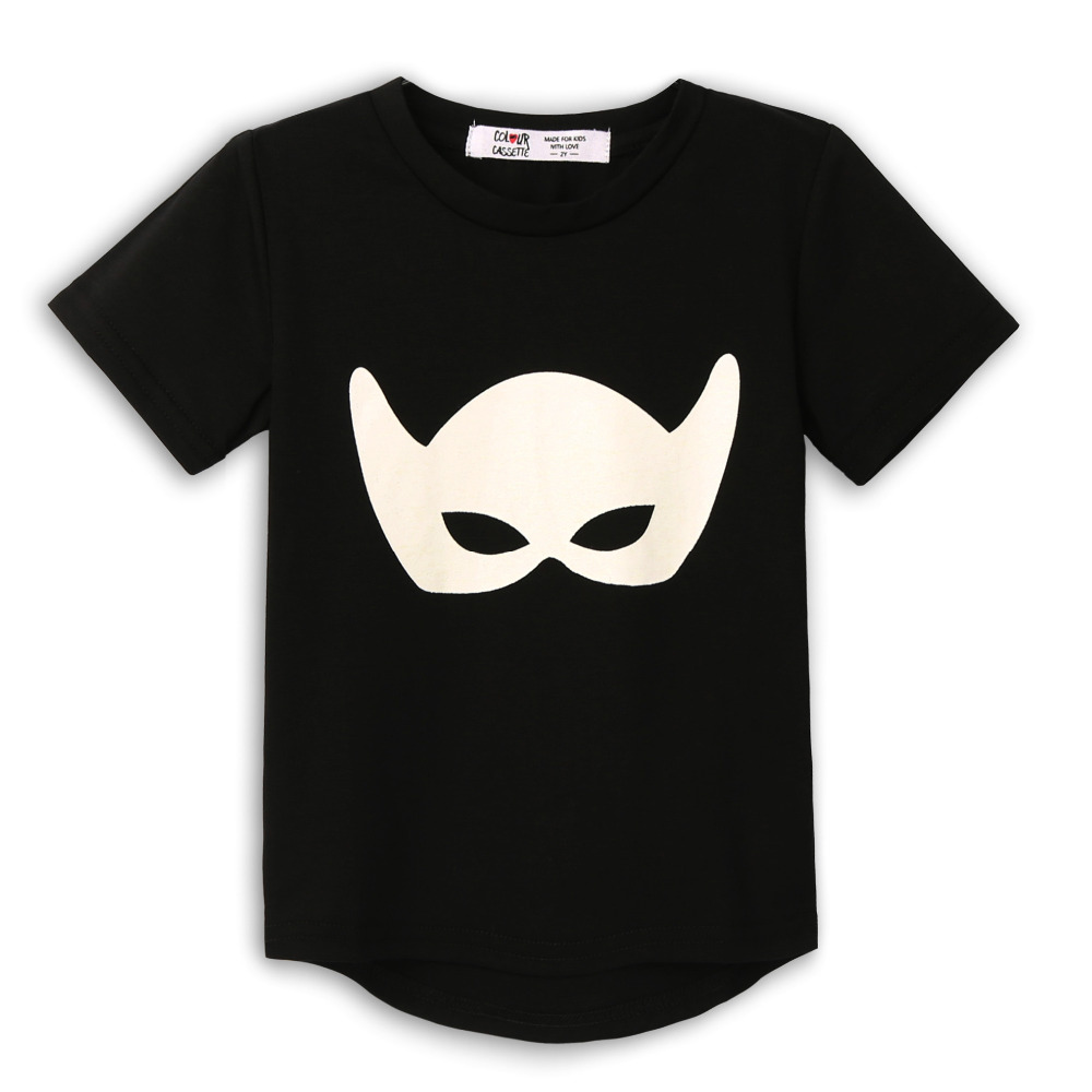 Free Shipping 2016 New Summer Premium 100%Cotton Jersey with mask printed Short Sleeve boy's kids t shirt . Exclusive 4 colors