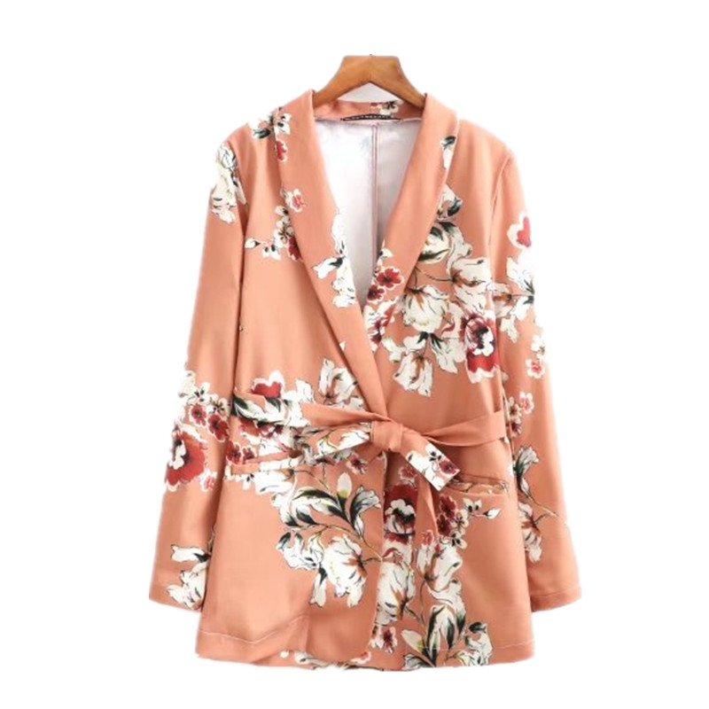 Womens suit female new style European national style holiday clothing belt flower pattern printing fashion two / piece suit