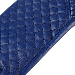 Image 3 - قفازات النساء ، جلد طبيعي ، بطانة القطن ، قفازات جلدية زرقاء ، قفازات جلدية للنساء ، قفازات الإناث