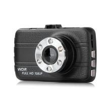 VODOOL Dual Lens 3.0in LCD 1080P Car DVR Video Recorder Automobile Night Vision Dash Cam Video Dashcam with LED Light