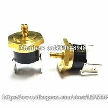 Hex head copper screw KSD301 10A 250V 75C Temperature Switch Screw cap M4 75 degrees  Normally closed