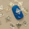 K78  200pcs/lot  Golden Rhombus Flower Metal Nail Art Jewelry Nail Decoration Tiny Slice Metal Stud Accessories