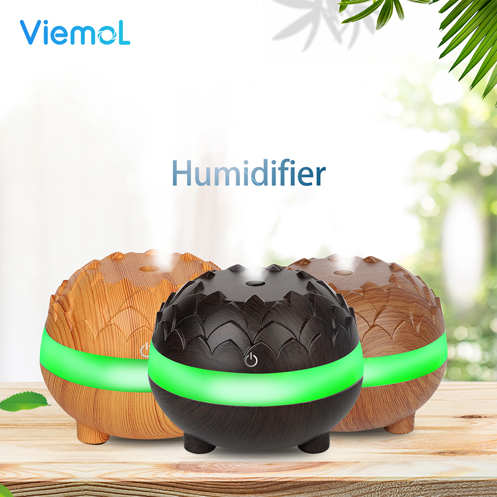 Viemol Air Humidifier wood grain with LED lights Essential Oil Diffuser Aromatherapy Electric Mist Maker for HomeViemol Air Humidifier wood grain with LED lights Essential Oil Diffuser Aromatherapy Electric Mist Maker for Home