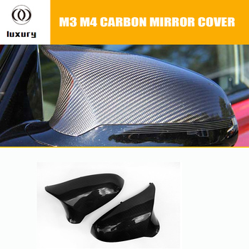 F80 M3 F82 F83 M4 Carbon Fiber Side Mirror Cover Cap for BMW F80 M3 F82 F83 M4 Only Right Hand Drive 2012 - 2016 image