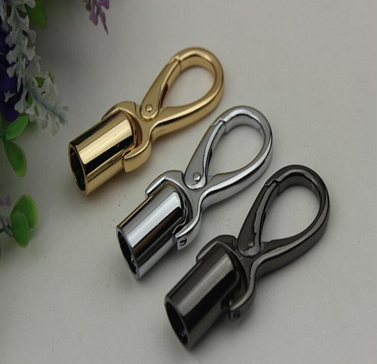 (10 PC/lot) Metal Plating Processing Leather Handbags Tassel Bell Dog Buckle Hang Bag Hook Accessories