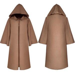 Image 2 - ליל כל הקדושים מות אשף גלימת קוספליי תלבושות נזיר ברדס גלימות גלימת קייפ נזיר מימי הביניים רנסנס הכהן ילדים למבוגרים