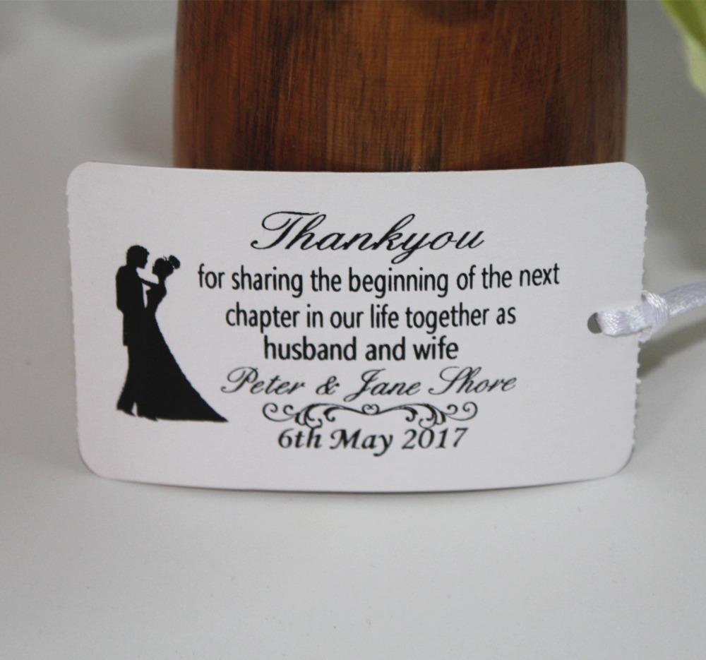 ᗖ45 personalized damask wedding thank you tags vintage tag a13