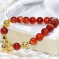 8mm round beads strand bracelets natural red agate high quality new fashion women wholesale price jewelry making 7.5inch B2081
