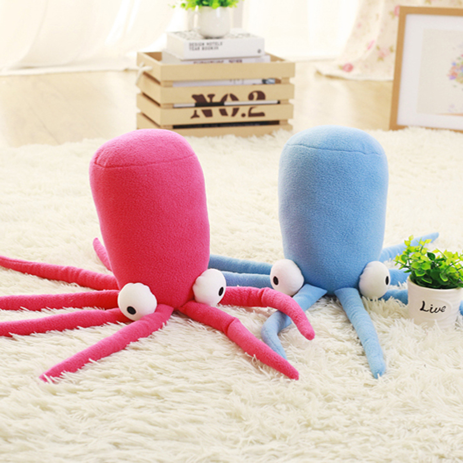 Soft Toy Blue Octopus Plush Simulation Animal Sleeping Baby Dolls Brinquedo Gifts Children Peluche Kawaii Toys For Girls 60G0674 stuffed dog plush toys black dog sorrow looking pug puppy bulldog baby toy animal peluche for girls friends children 18 22cm