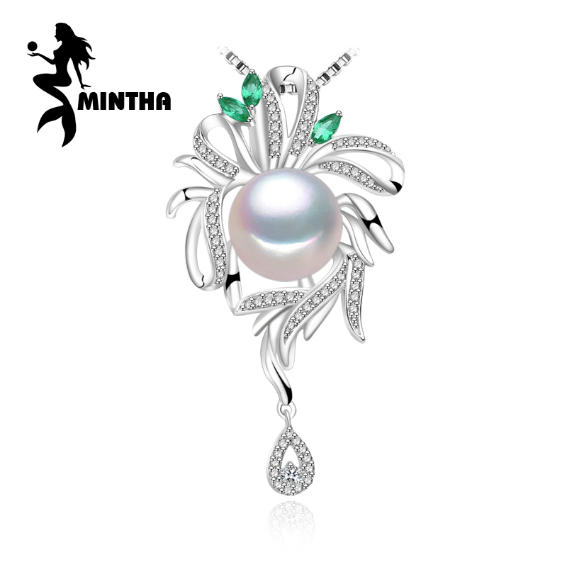 MINTHA 925 Sterling Silver Jewelry for Women Fine Jewelry flower necklace ,pearl jewelry statement beryl Bohemia necklaceMINTHA 925 Sterling Silver Jewelry for Women Fine Jewelry flower necklace ,pearl jewelry statement beryl Bohemia necklace