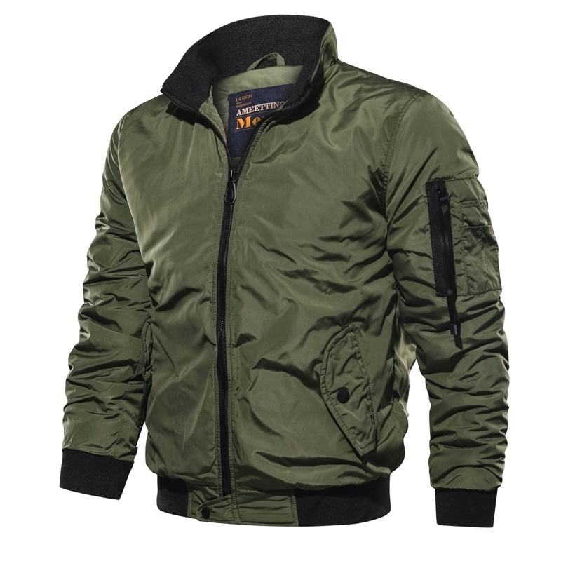 HTB1YC2teliE3KVjSZFMq6zQhVXaO Men's Outwear Baseball Jacket Flight Bomber Coat Mens 2019 Spring Autumn Army Green Military Streetwear Jackets Coats Waterpoof