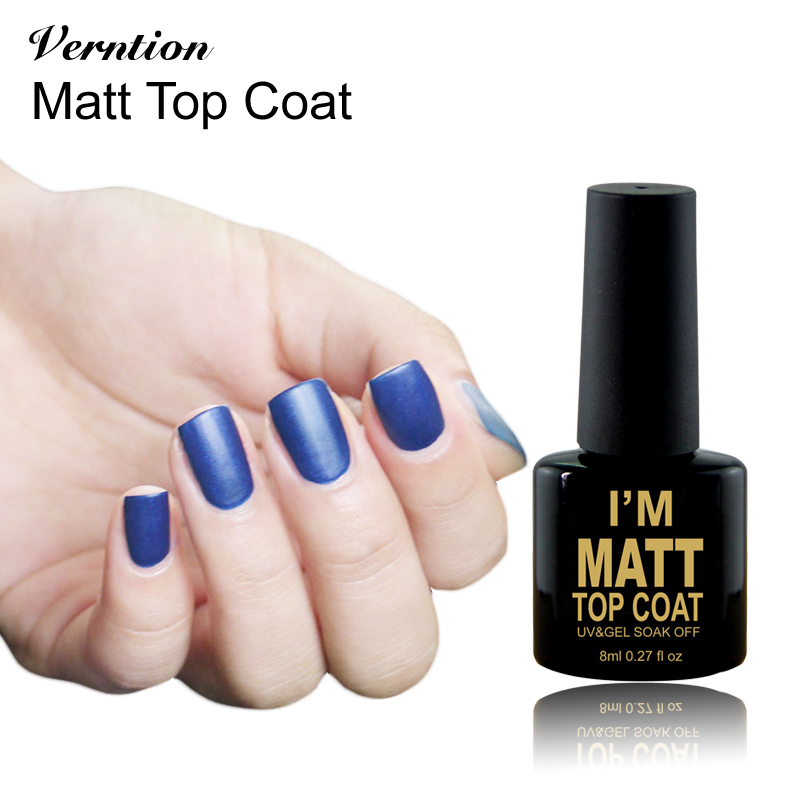 Verntion Mate marca Top Coat UV Gel Laca Empapa del LED UV 8 ml Mate ...