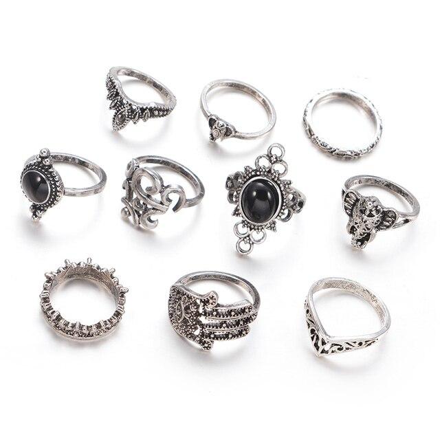 Jewdy 10pcs/lot Rune Ring...