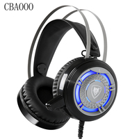 5 1 Gaming Headset Deep Bass Computer Earphone Gamer Headphones With Microphone LED Light Best Casque