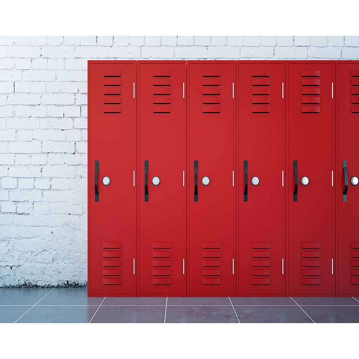 White Brick Wall Red Lockers Locker Room Background Photography Backdrops  Backdrop Decor Cloths Photography Vinyl In Background From Consumer  Electronics On ...